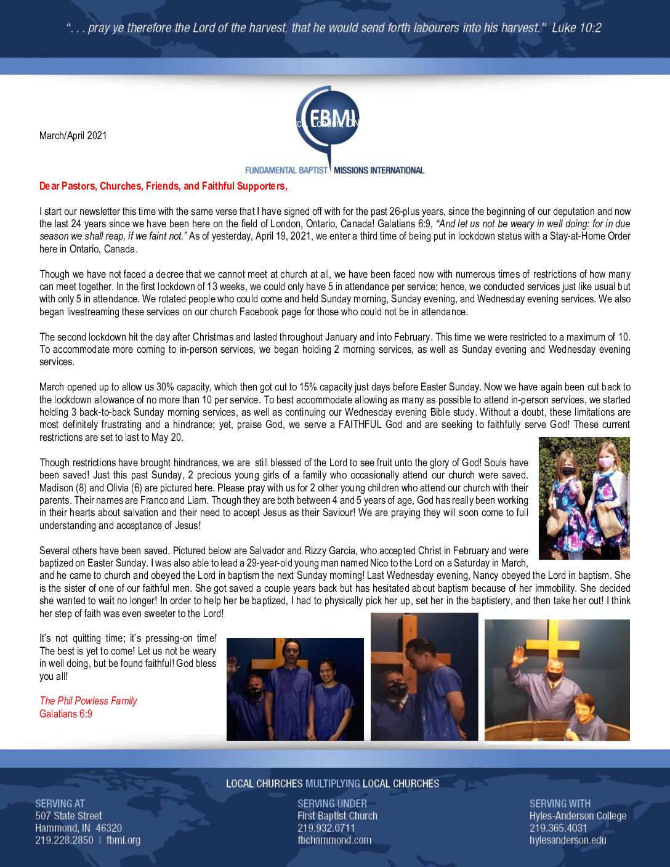 thumbnail of Phillip Powless Mar-Apr 2021 Prayer Letter
