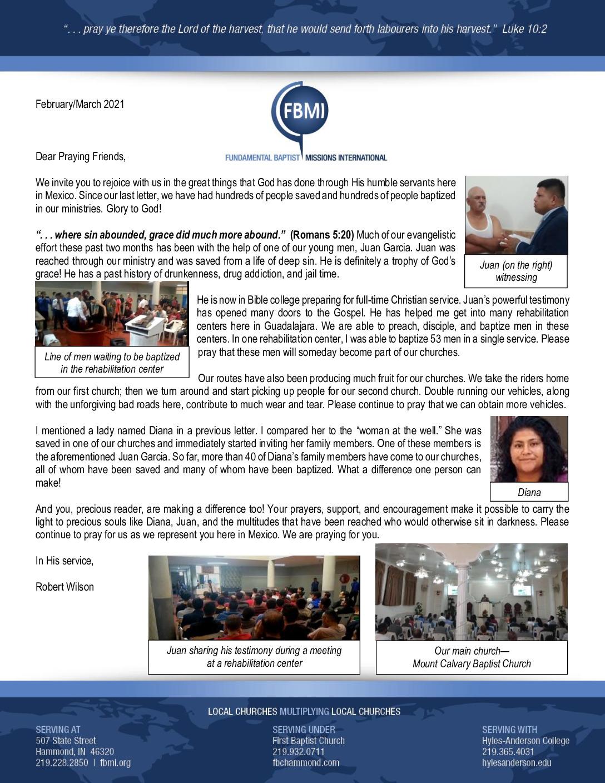 thumbnail of Robert Wilson Feb-Mar 2021 Prayer Letter – Revised