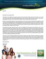 Wes Palla Prayer Letter: Moving Forward