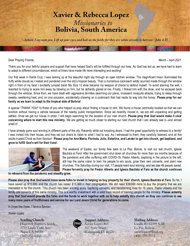 thumbnail of Xavier Lopez Mar-Apr 2021 Prayer Letter