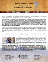Xavier Lopez Prayer Letter: Learning to Lean, Thank You for Praying, Souls Saved, and Prayer Request