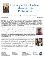Courtney and Ester Godsoe Prayer Letter: Serving God Amidst the Pandemic