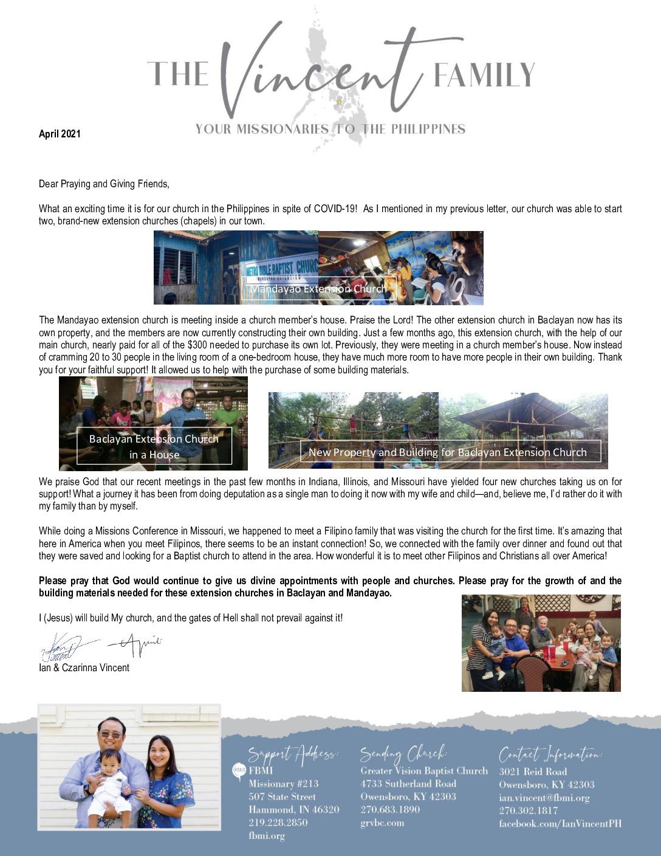 thumbnail of Ian Vincent April 2021 Prayer Letter