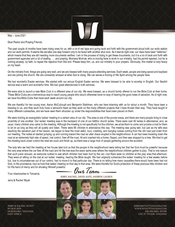 thumbnail of Jerry Wyatt III May-Jun 2021 Prayer Letter