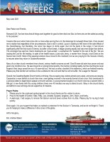 Andrew and Laura Steers Prayer Letter: Regardless of the Circumstances, God Is Still in Control