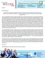 Daniel and Misty Wilder Prayer Letter: Boldness