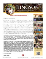 Garry and Mindy Tingson Prayer Letter: We've Almost Reached Our Goal!