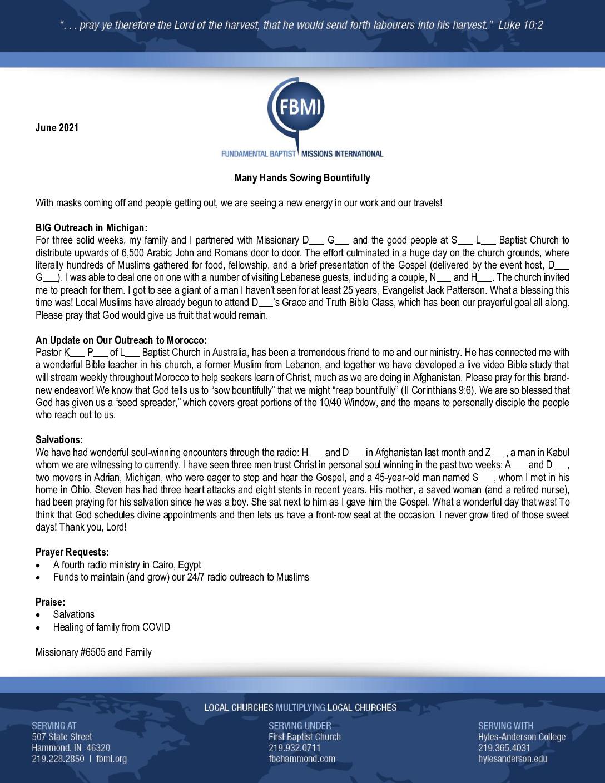 thumbnail of M6505 June 2021 Newsletter