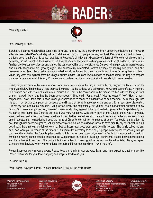thumbnail of Mark Rader Mar-Apr 2021 Prayer Letter