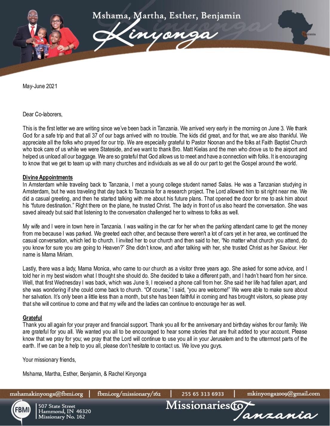 thumbnail of Mshama Kinyonga May-Jun 2021 Prayer Letter
