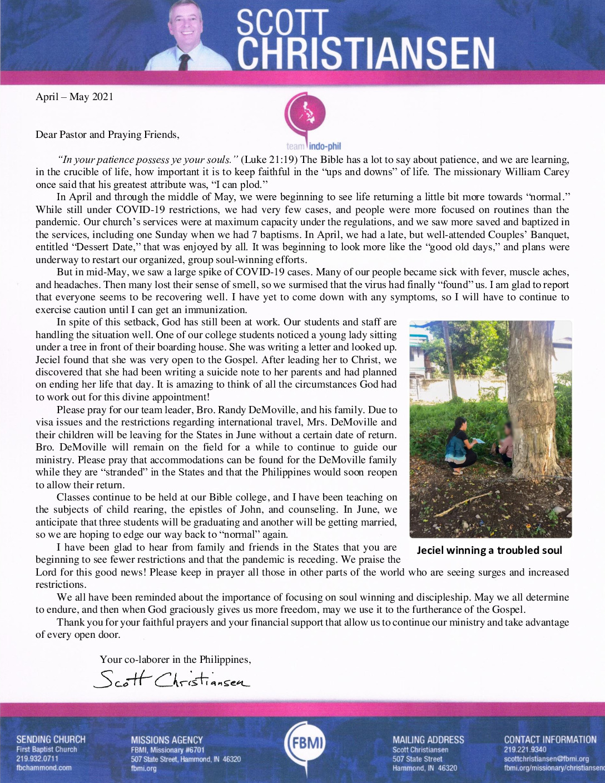 thumbnail of Scott Christiansen Apr-May 2021 Prayer Letter