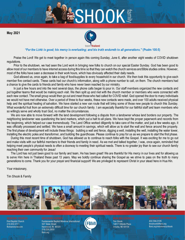 thumbnail of Tim Shook May 2021 Prayer Letter