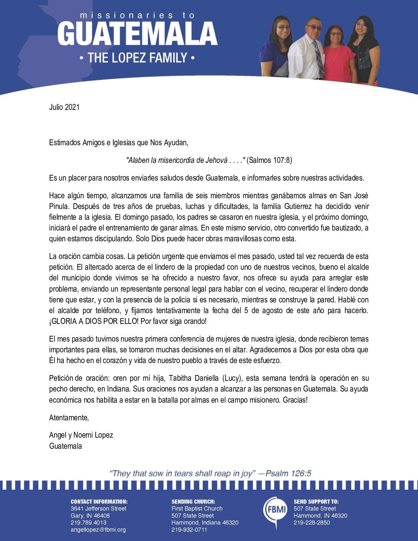 thumbnail of Angel Lopez July 2021 SPANISH Prayer Letter