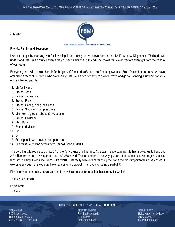 thumbnail of Eddie Arold July 2021 Prayer Letter
