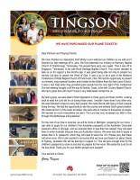 Garry and Mindy Tingson Prayer Letter:  We Have Purchased Our Plane Tickets!