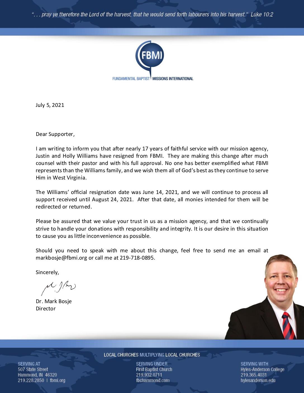 thumbnail of Justin Williams – Resignation Letter