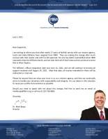Justin Williams Resignation Letter