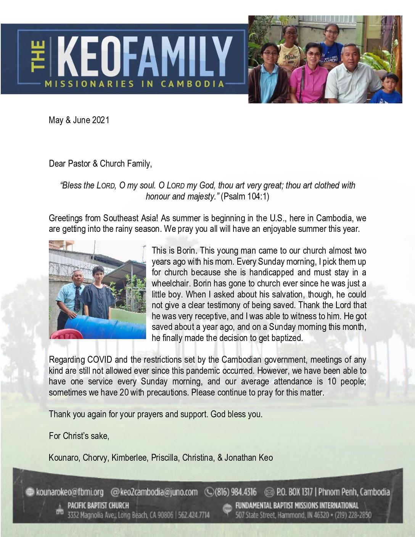 thumbnail of Kounaro Keo May-Jun 2021 Prayer Letter