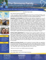 Tim and Christa Simmons Prayer Letter: Deputation Is Finished!