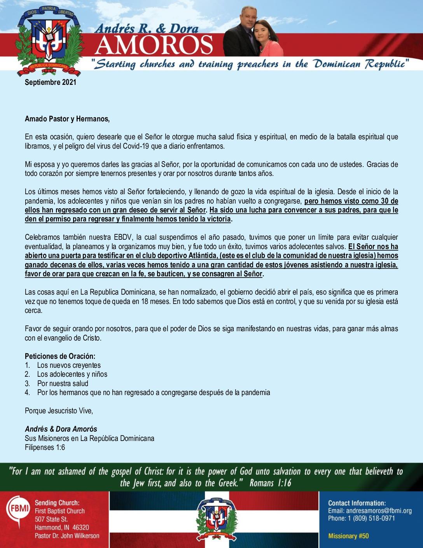 thumbnail of Andres Amoros September 2021 SPANISH Prayer Letter