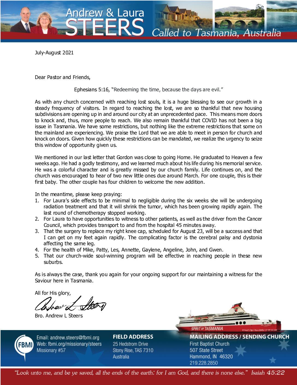 thumbnail of Andrew Steers Jul-Aug 2021 Prayer Letter