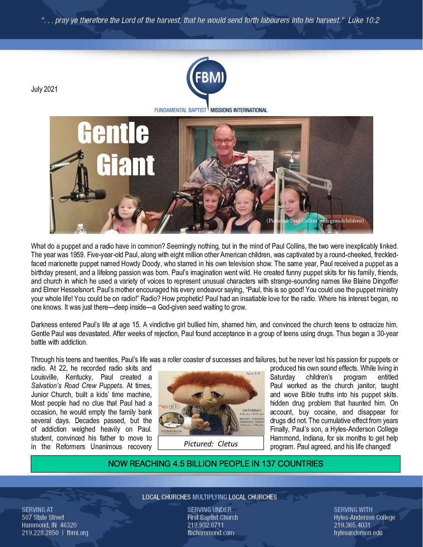 thumbnail of George Zarris July 2021 Prayer Letter