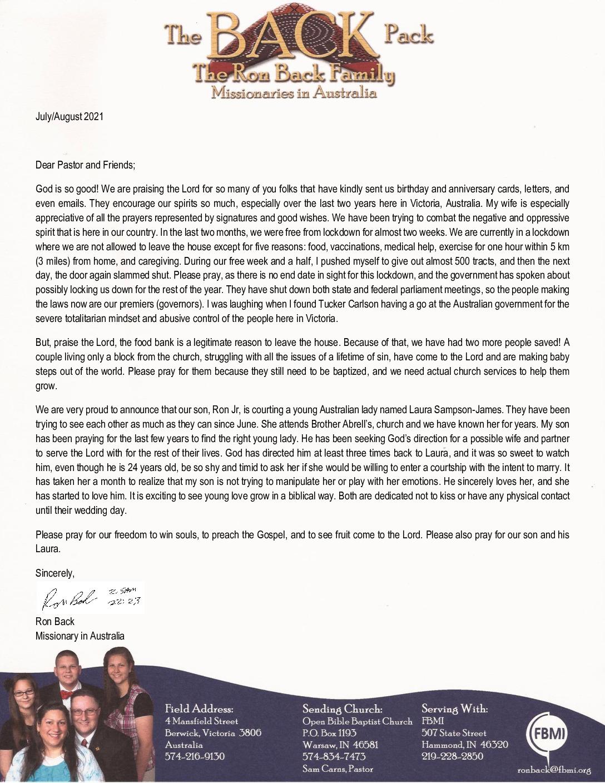 thumbnail of Ron Back Jul-Aug 2021 Prayer Letter