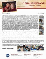 Teerapat and Tiffany Phaisarnpiwat Prayer Letter: God Turns Dead Ends Into Opportunities