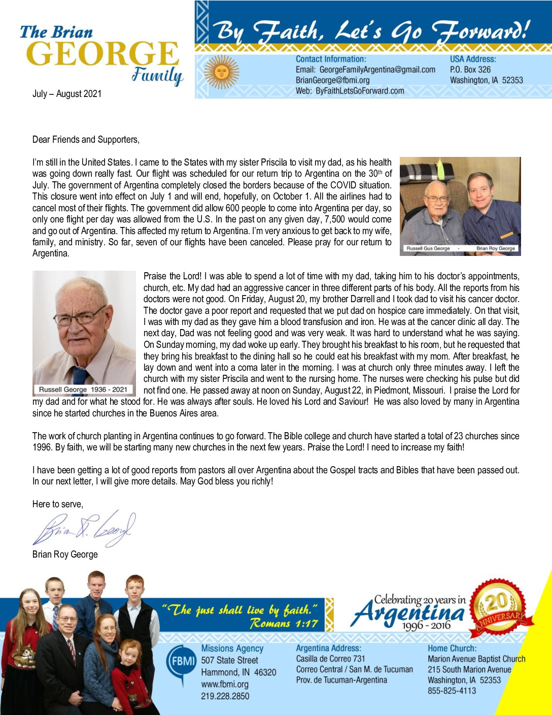 thumbnail of Brian George Jul-Aug 2021 Prayer Letter – Revision