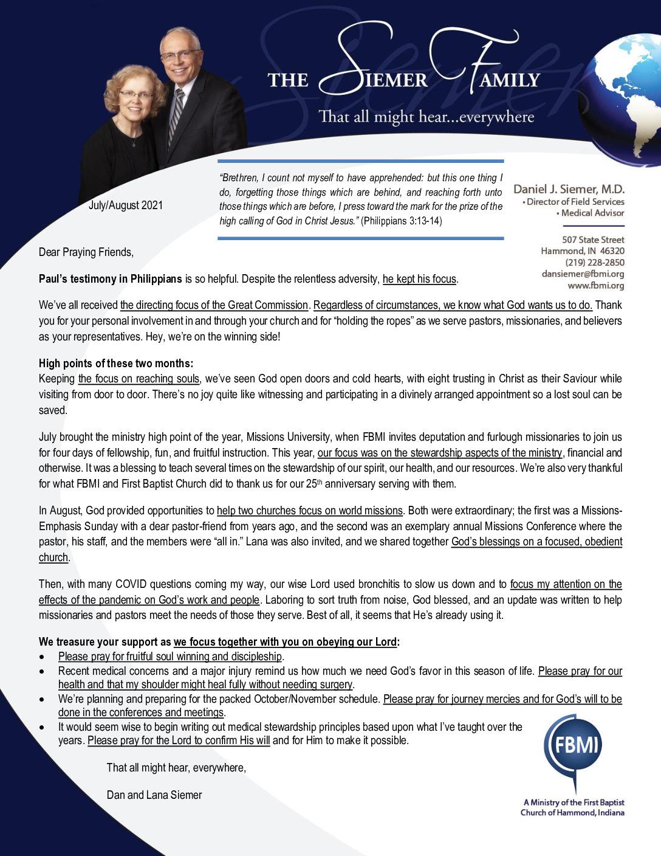 thumbnail of Dan Siemer Jul-Aug 2021 Prayer Letter