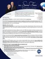Dan and Lana Siemer Prayer Letter: Keeping Our Focus