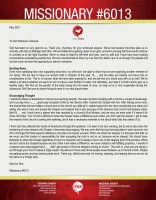 Missionary #6013 Prayer Letter: Exciting News and Encouraging Thoughts