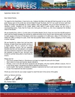 Andrew and Laura Steers Prayer Letter: The Timeless Value of the BOOK!