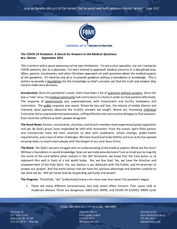 thumbnail of COVID Update – Dr. Siemer – Sept 2021