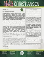 Micah and Abbie Christiansen Prayer Letter:  A Conference First