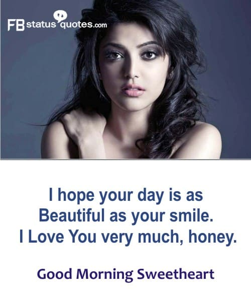lovely good morning to my sweetheart