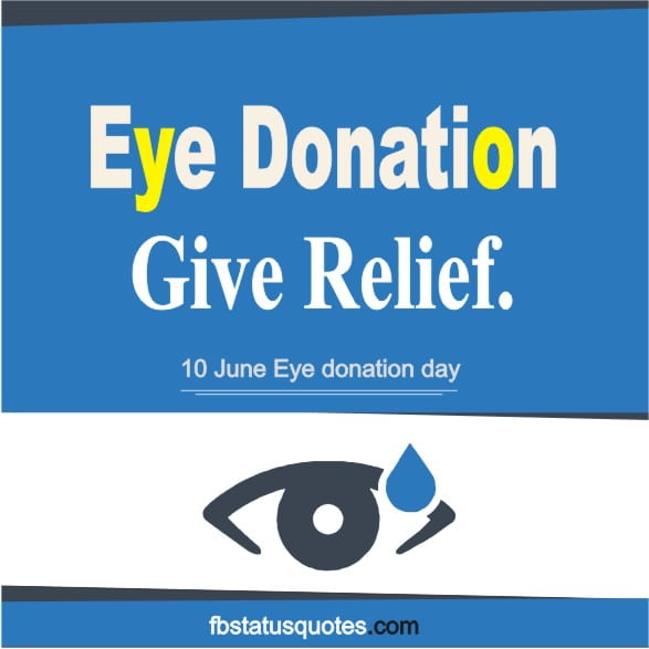 Eye donation day Slogan