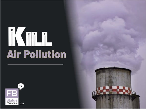 slogan of air pollution