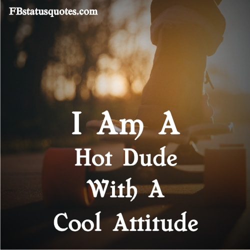 I Am A Hot Dude With A Cool Attitud