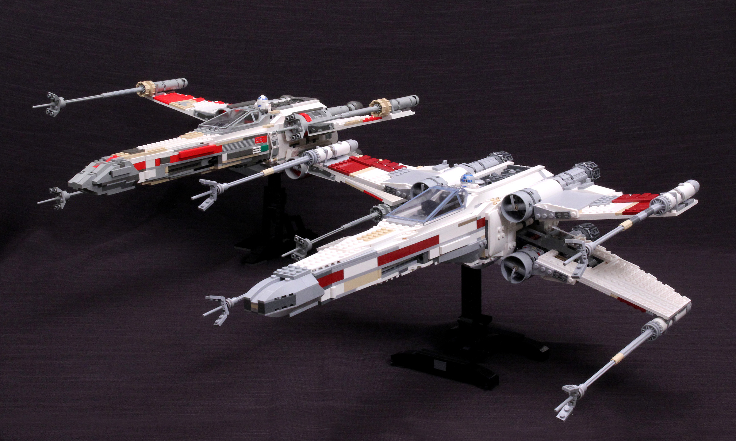 Side By Side Review 10240 Red Five X Wing Starfighter And 7191 Ucs