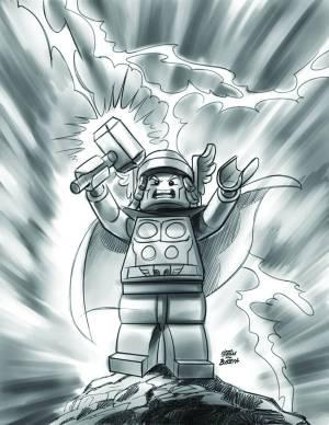 Avengers #21 - LEGO Sketch Variant