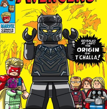 LEGO version of Avengers 87 comic book cover