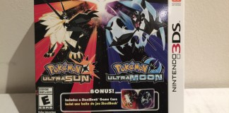 Pokemon Ultra Sun and Ultra Moon SteelBook case