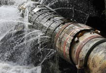 Image of a pipe burst