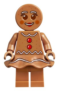 LEGO Gingerbread Woman with skirt