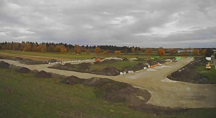 Blick auf das Baugebiet Point IV