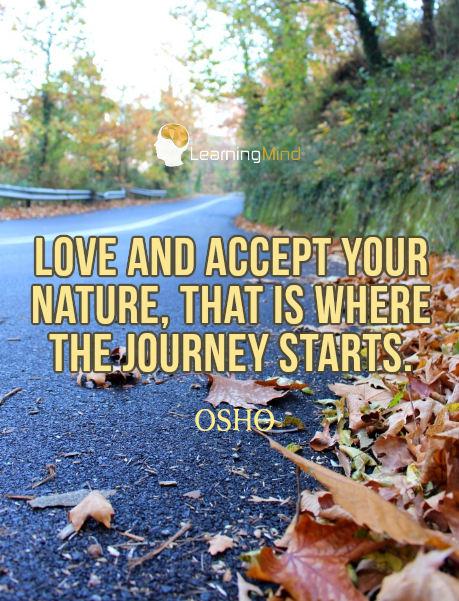 爱你的天性。这就是从旅程中开始的。