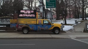 Demo Electronic  Common Sign on display for Selectmen Review