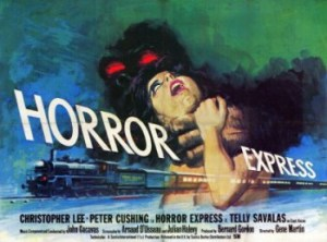 Horror Express is a 1972 Spanish/British horror film directed by Eugenio Martín and starring Christopher Lee, Peter Cushing, Alberto de Mendoza and Telly Savalas. It was produced by Bernard Gordon and written by Arnaud d'Usseau and Julian Zimet