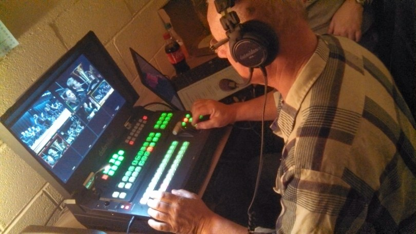 Neil Kaiser at the Controls of FCAs new HD Flypack, a DataVideo HS-2800